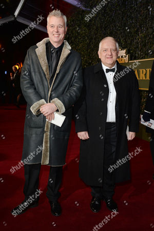 the Evening Standard Theatre Awards at Old Vic Tim Hatley and Simon Russell Beale