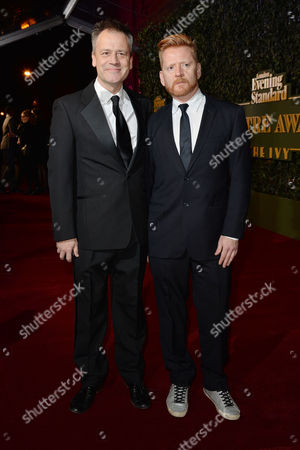 the Evening Standard Theatre Awards at Old Vic Michael Grandage with His Partner Christopher Oram