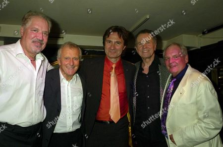 an Evening with Barry Mason & Friends at the Dover Street Restaurant & Bar in Aid of the Variety Club Peter Sarstedt Roger Greenaway Russ Kane Barry Mason & Tony Hatch