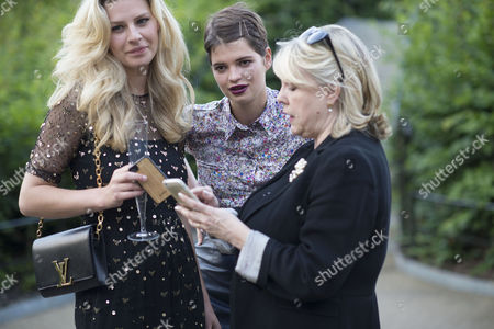 Estee Lauder Companies Fashion Rules: Dresses From the Collections of the Queen Princess Margaret & Princess Diana - Launch Party at Kensington Palace Chloe Hayward and Pixie Geldof