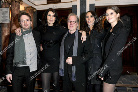 Fatal Attraction Press Night at the Theatre Royal Haymarket and Afterparty at Mintleaf James Dearden with His Wife Annabel Brooks and Their Children