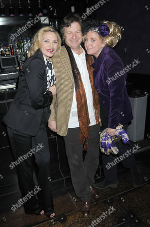 First Night Party For 'Private Lives' at Jewel Covent Garden Kim Cattrall Danny Moynihan and Katrine Boorman