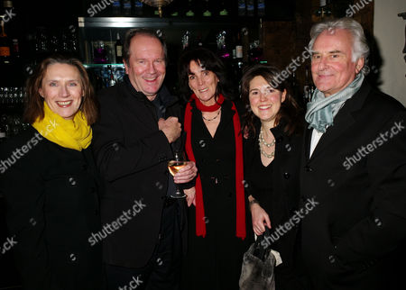 First Night Party For 'Private Lives' at Jewel Covent Garden William Boyd with the Director Sir Richard Eyre and His Wife Sue Birtwistle (lady Eyre) with Their Daughter