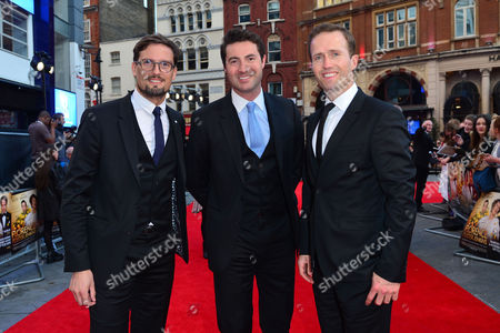 Florence Foster Jenkins World Premiere at Odeon Leicester Square Blake (ollie Baines Stephen Bowman and Humphrey Berney)