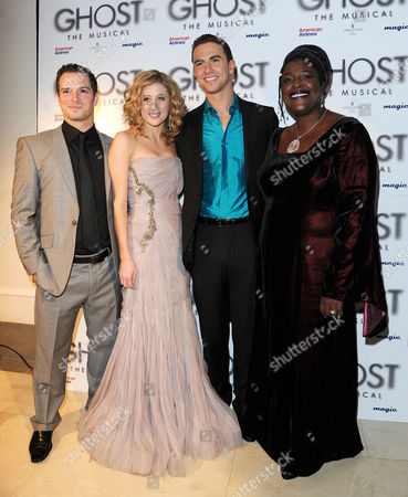 'Ghost' Press Night Afterparty at the Corinthia Hotel Andrew Langtree Caissie Levy Richard Fleeshman and Sharon D Clarke
