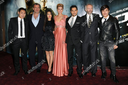 Gi Joe 3d Retaliation Premiere at the Empire Leicester Square Jon M Chu (director) Ray Stevenson Elodie Yung Dwayne Johnson Adrianne Palicki D J Cotrona Jonathan Pryce and Byung-hun Lee