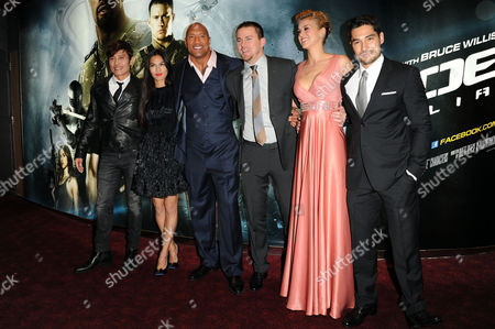 Gi Joe 3d Retaliation Premiere at the Empire Leicester Square Byung-hun Lee Elodie Yung Dwayne Johnson Channing Tatum Adrianne Palicki and D J Cotrona