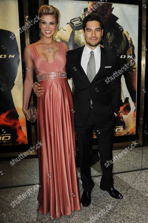 Gi Joe 3d Retaliation Premiere at the Empire Leicester Square Adrianne Palicki and D J Cotrona
