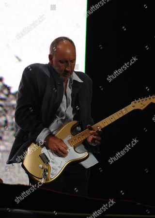 Pete Townshend and Roger Daltry of the Who Perform the Headline Act On the Pyramid Stage On the Final Day of the Glastonbury Festival