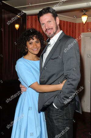 Good People Press Night at the Noel Coward Theatre Angel Coulby and Lloyd Owen
