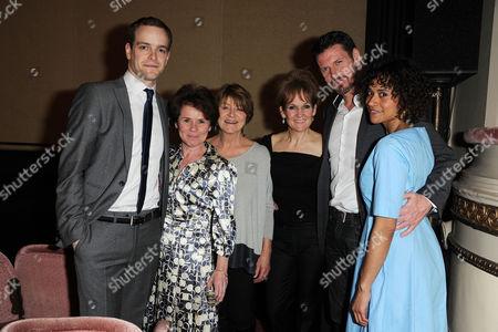 Good People Press Night at the Noel Coward Theatre Matthew Barker Imelda Staunton Susan Brown and Lorraine Ashbourne Lloyd Owen and Angel Coulby