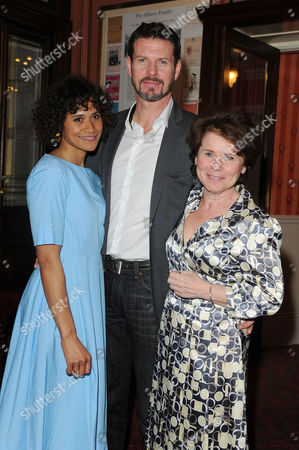 Good People Press Night at the Noel Coward Theatre Angel Coulby Lloyd Owen and Imelda Staunton