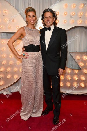 Stock Picture of Gq Men of the Year Awards Reception at the Royal Opera House Stephen Webster with His Wife Anastasia