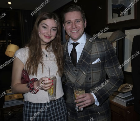 Stock Picture of Hackett Flagship Store Opening Party Regent Street London Antonia Clark & Allen Leach