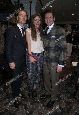 Hackett Flagship Store Opening Party Regent Street London Freddie Fox Antonia Clark & Allen Leach