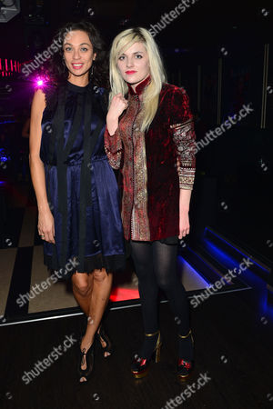 Hello! Fashion Monthly First Anniversary Party at Charlie Berkeley Street Lilly Becker (kerssenberg) and Charlotte Watts
