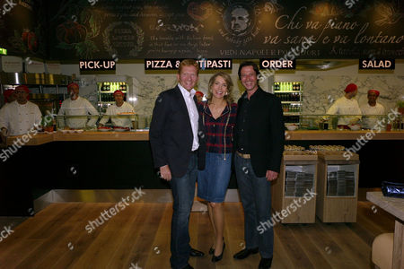 Her Highness the Begum Aga Khan Princess Gabriele Inaara Aga Khan Visits A New European Dining Concept Vapiano the Chic New Italian Fast-casual Restaurant at Great Portland Street London Joachim Thyssen Her Highness the Begum Aga Khan & Claus Rader