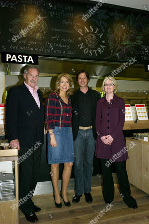 Her Highness the Begum Aga Khan Princess Gabriele Inaara Aga Khan Visits A New European Dining Concept Vapiano the Chic New Italian Fast-casual Restaurant at Great Portland Street London Ian Daly Claus Rader Mary Mclaughin Her Highness the Begum Aga Khan