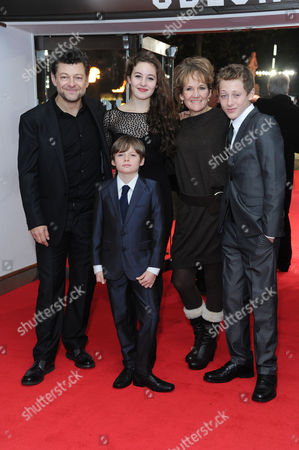 the Hunger Games: Catching Fire World Premiere at the Odeon Leicester Square Andy Serkis and Lorraine Ashbourne with Their Children Ruby Sonny and Louis