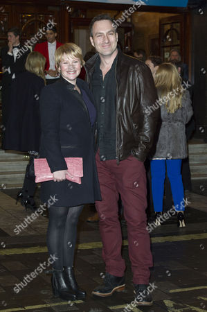 I Can't Sing Press Night Arrivals at the London Palladium Joanna Page with Her Husband James Thornton