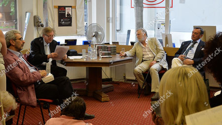 07 08 2014 A New Autobiography I Joke to Much by Michael Rudman the Theatre Director's Tale Launch Party and Reading at French's Bookshop Fitzroy Street London Michael Rudman