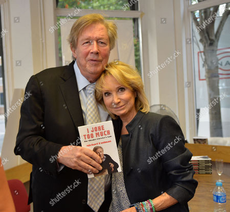 07 08 2014 A New Autobiography I Joke to Much by Michael Rudman the Theatre Director's Tale Launch Party and Reading at French's Bookshop Fitzroy Street London Michael Rudman with His Wife Felicity Kendal