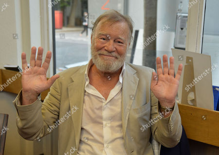 Stock Picture of 07 08 2014 A New Autobiography I Joke to Much by Michael Rudman the Theatre Director's Tale Launch Party and Reading at French's Bookshop Fitzroy Street London Nicky Henson