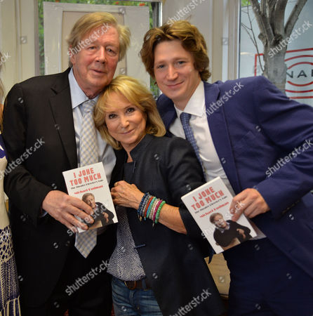 07 08 2014 A New Autobiography I Joke to Much by Michael Rudman the Theatre Director's Tale Launch Party and Reading at French's Bookshop Fitzroy Street London Michael Rudman with His Wife Felicity Kendal and Their Son Jacob Rudman