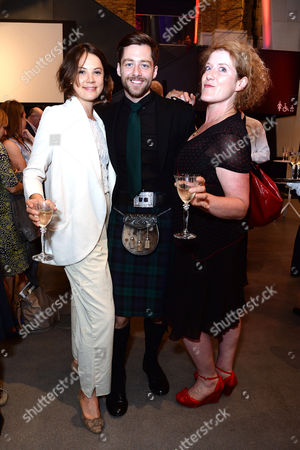 Imperial War Museum Relaunch Party Alice St Clair with Richard Rankin and Sarah Phelps (the Crimson Field)