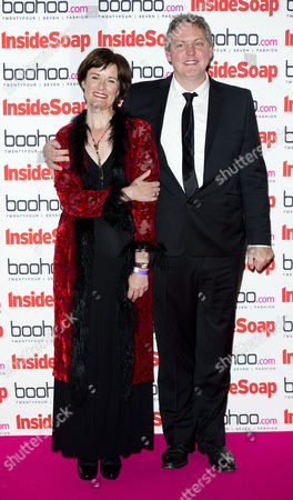 Inside Soap Awards Arrivals at One Marylebone Bob Barrett and Catherine Russell