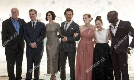 'Interstellar' Premiere at the Odeon Leicester Square Michael Caine Director Christopher Nolan Anne Hathaway Matthew Mcconaughey Jessica Chastain Mackenzie Foy and David Gyasi