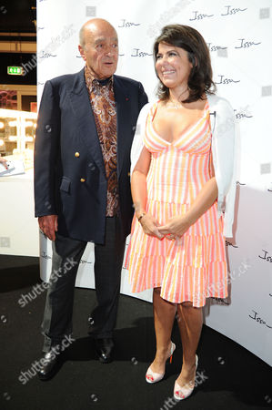 Issa Ss 2013 Collection Catwalk Show at Somerset House During London Fashion Week 2012 Mohamed Al Fayed with Daniella Helayel