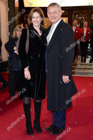 Itv Gala at the London Palladium Martin Clunes with His Wife Philippa Braithwaite
