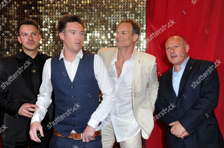 Itv Soap Awards at the Hackney Empire Ashley Taylor Dawson Andrew Moss Victor Gardiner and David Kennedy