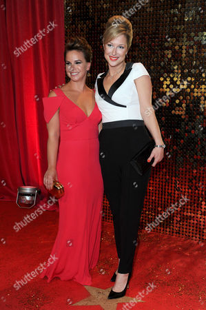 Itv Soap Awards at the Hackney Empire Jessica Fox and Gemma Bissix