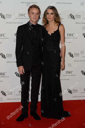 Iwc Schaffhausen Gala Dinner in Honour of the Bfi at Battersea Evolution Tom Felton with His Girlfriend Jade Olivia