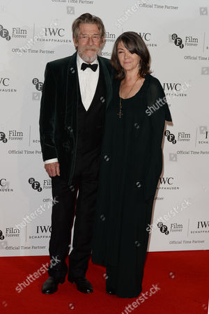 Iwc Schaffhausen Gala Dinner in Honour of the Bfi at Battersea Evolution John Hurt with His Wife Anwen Rees Meyers
