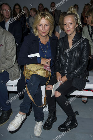 London Fashion Week - Jasper Conran Fashion Show at the Bfc Tent Somerset House Front Row - Jennifer Saunders with Her Daughter Ella Edmondson