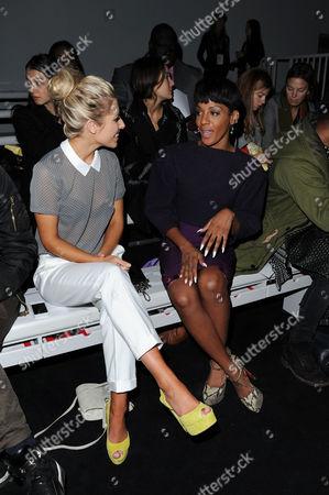 Jean-pierre Braganza Fashion Show During London Fashion Week at Somerset House Mollie King and Dawn Richards