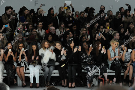 Jean-pierre Braganza Fashion Show at the Courtyard Space Somerset House During Aw 2015 Lfw Front Row - Leigh-anne Pinnock Jade Thirlwall Roxie Nafousi Millie Mackintosh Rosie Fortescue Lilah Parsons Sarah Harding and Dionne Bromfield