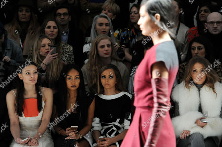 Jean-pierre Braganza Fashion Show at the Courtyard Space Somerset House During Aw 2015 Lfw Front Row - Leah Weller Leigh-anne Pinnock Jade Thirlwall and Millie Mackintosh