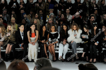 Jean-pierre Braganza Fashion Show at the Courtyard Space Somerset House During Aw 2015 Lfw Front Row - Nat Weller Leah Weller Leigh-anne Pinnock Jade Thirlwall Roxie Nafousi Millie Mackintosh Rosie Fortescue and Lilah Parsons