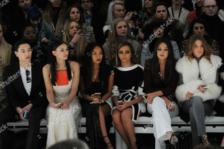 Jean-pierre Braganza Fashion Show at the Courtyard Space Somerset House During Aw 2015 Lfw Front Row - Nat Weller Leah Weller Leigh-anne Pinnock Jade Thirlwall Roxie Nafousi and Millie Mackintosh