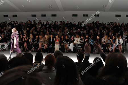 Jean-pierre Braganza Fashion Show at the Courtyard Space Somerset House During Aw 2015 Lfw Front Row - Alice Naylor-leyland Yasmin and Amber Le Bon Zara Martin Jade Williams Nat Weller Leah Weller Leigh-anne Pinnock Jade Thirlwall Roxie Nafousi Millie Mackintosh Rosie Fortescue Lilah Parsons Sarah Harding Dionne Bromfield Michelle Keegan and Sam Faiers