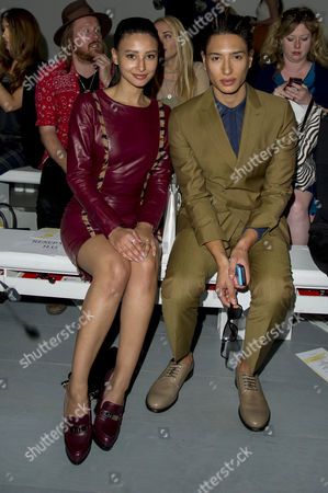 London Fashion Week at Somerset House Jean-pierre Braganza Front Row at the Bfc Tent Leah Weller with Her Brother Nat Weller