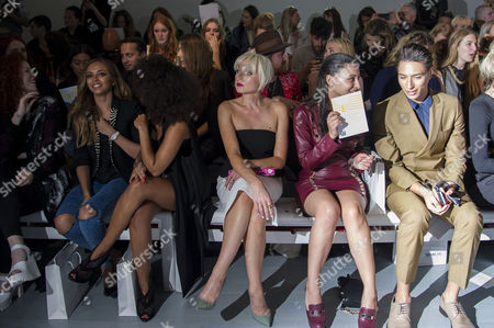 London Fashion Week at Somerset House Jean-pierre Braganza Front Row at the Bfc Tent Little Mix Leigh-anne Pinnock and Jade Thirlwall with Helen George Leah Weller and Nat Weller