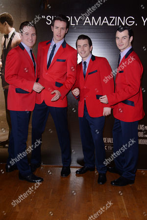 Jersey Boys Gala Screening at the Odeon Westend the Westend Theatrical Cast of Jersey Boys - Michael Watson Jon Boydon Edd Post and Matt Nalton