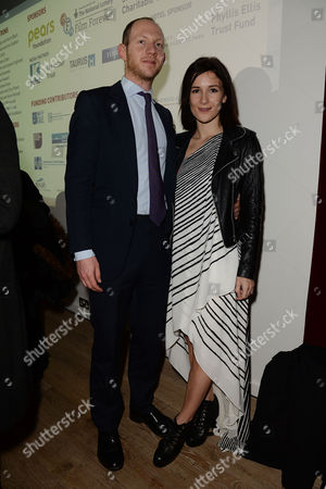 Stock Picture of Jewish Film Festival Opening Night at the Bfi Southbank Sarah Solemani with Her Husband Daniel Ingram