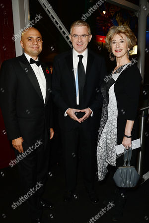 Jewish Film Festival Opening Night at the Bfi Southbank Sajid Javid Mp )secretary of State For Culture Media and Sport) with Daniel Taub Ambassador of Israel