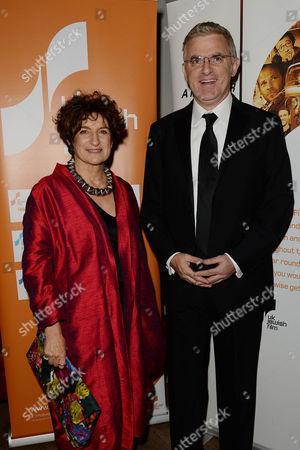 Jewish Film Festival Opening Night at the Bfi Southbank Judy Ironside and Daniel Taub Ambassador of Israel